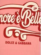 """Dolce & Gabbana Dolce&gabbana Dolce & Gabbana """"l'amore è Bellezza"""" Print T-shirt - PINK"""