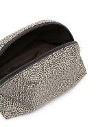 Borbonese Small Zipped Make-up Bag - Op Classico/marrone