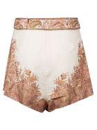 Zimmermann Floral Print Skirt - NEUTRALS