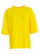 Hache Half Sleeve Top - Yellow