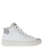 Crime london High White And Silver Leather Sneakers - White/silver
