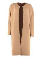 Max Mara Studio Girotta Viscose Jersey Cardigan - Camel