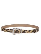 B-Low the Belt B. Low The Belt Leopard Belt - Tan/silver