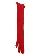 Maison Margiela Long Ribbed Gloves - Red