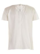 Emporio Armani T-shirt S/s Round Neck - Bianco Seta