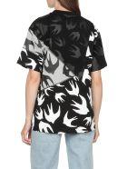 McQ Alexander McQueen Swallow Panelled T-shirt - DK BLACK/MERCURY MEL