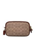 Coach Signature Logo Pattern Print Shoulder Bag - Beige mattone