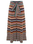 3.1 Phillip Lim Striped Rib-knit Belted Maxi Skirt - Multicolor