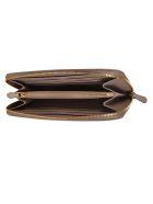 Prada Saffiano Metal Plaque Zip-around Wallet - Cipria