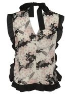 RED Valentino Floral Print Top - pink