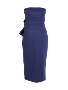 La Petit Robe Di Chiara Boni La Petite Robe Di Chiara Boni Polyester Dress - Blue Night