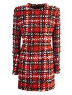 Balmain Tartan Tweed And Lurex Dress - Scozzese