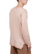 Maison Flaneur Striped Sweater - Rose/ivory