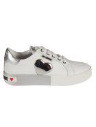 Love Moschino Metallic Heart Sneakers - White