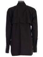 Y's Shirt L/s Collar Lace - Black