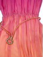 Chloé Pink And Orange Silk Blend Dress - Multicolor