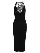 Balmain Long Dress - BLACK