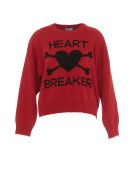 RED Valentino Logo Heart Breaker Sweater - Red