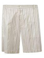 Christian Dior Striped Shorts - White/Beige