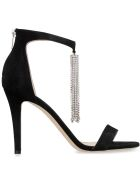 Jimmy Choo Viola Suede Sandals - black