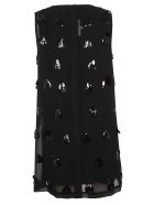 McQ Alexander McQueen Mcq Embellished Shift Dress -  Black Multi