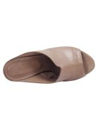 Roberto del Carlo Del Carlo Leather Heeled Mules - DOVE GREY