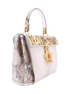 Giancarlo Petriglia Leather Tote Bag - Silver