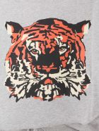 Etre Cecile T-shirt With Tiger Print - GRIGIO
