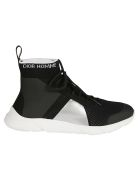 Christian Dior Logo Detail Sock Sneakers - Black