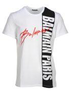 Balmain Balmain Logo Print T-shirt - WHITE + PRINT