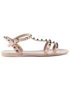 Valentino Garavani Jelly Flat Rockstud Sandals - Poudre