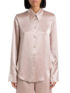 Nanushka Satin Slip Shirt - Beige