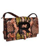 Rochas Logo Plaque Shoulder Bag - Multicolor