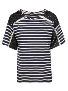 Ermanno Scervino Striped T-shirt - blue