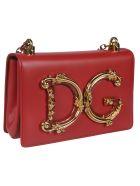 Dolce & Gabbana Baroque Dg Shoulder Bag - Red