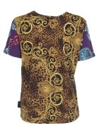 Versace Jeans Couture Multicolor T-shirt With Logo - Multicolor