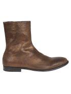 Alexander McQueen Classic Boots - Cracked Goldblack
