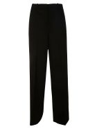 Theory Long Flared Trousers - Black