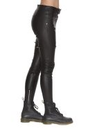 RTA Lux Leather Trousers - Black