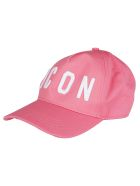 Dsquared2 Pink Cotton Icon Baseball Cap - PINK white