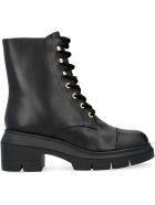 Stuart Weitzman Nisha Leather Combat Boots - black