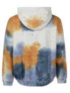 MSGM Splat Color Print Hoodie - White/Blue/Beige