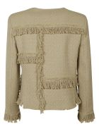 Moschino Fringed Detail Jacket - Light Brown