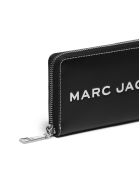 Marc Jacobs Logo Zip Around Wallet - Nero bianco
