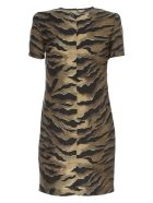 Dsquared2 Dress Silk Twill Zebra Printing - S Multi