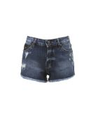 John Richmond Distressed Denim Shorts - Basic