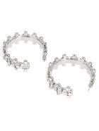 AREA Silver-tone Brass Earrings - Silver