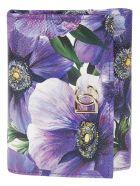 Dolce & Gabbana Floral Print Logo Plaque Continental Wallet - Lavender/White