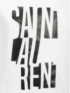 Saint Laurent T-shirt - Naturel/noir brillant