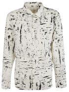 Bottega Veneta Paint Detail Shirt - Off-White/Black